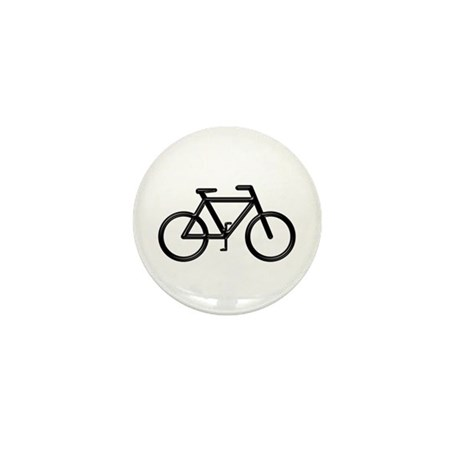"""Black Bike"" Mini Button"