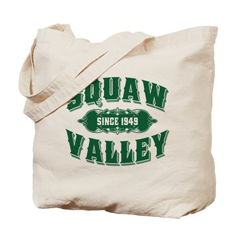 Squaw Valley Old Style Green Tote Bag