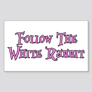 Follow The White Rabbit Sticker (Rectangle)