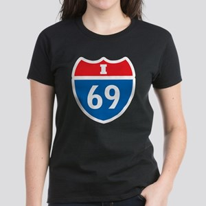 Interstate 69 I-69 Women's Dark T-Shirt