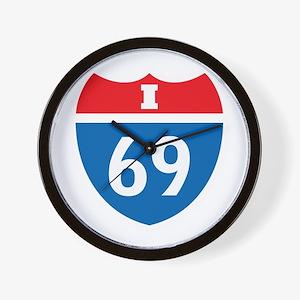 Interstate 69 I-69 Wall Clock