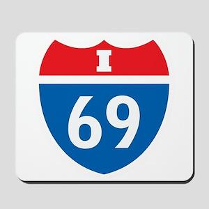 Interstate 69 I-69 Mousepad