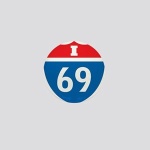 Interstate 69 I-69 Mini Button