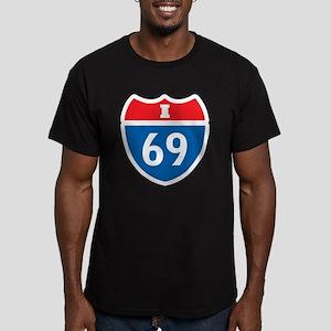 Interstate 69 I-69 Men's Fitted T-Shirt (dark)
