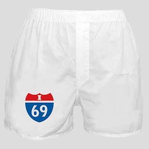 Interstate 69 I-69 Boxer Shorts