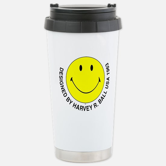 Silly Smiley #2 Stainless Steel Travel Mug