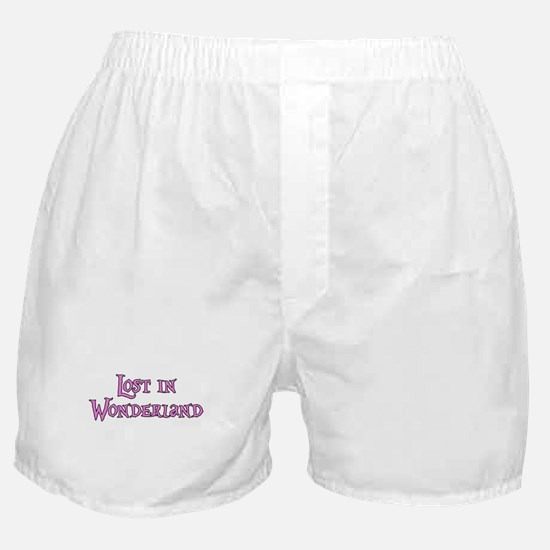 Lost in Wonderland Alice Boxer Shorts