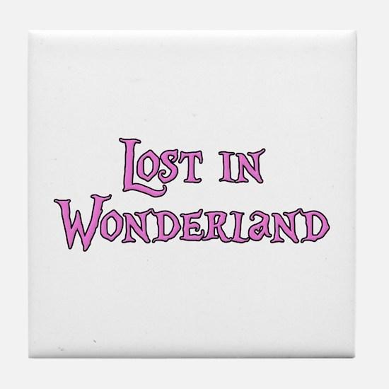 Lost in Wonderland Alice Tile Coaster