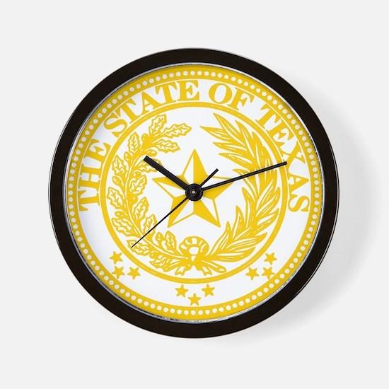 Funny Texas seal Wall Clock