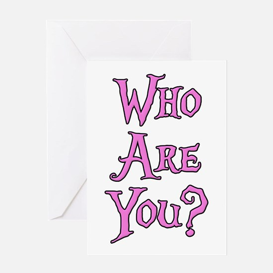 Who Are You? Alice in Wonderland Greeting Card