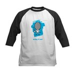 Moody little fencing characte Kids Baseball Jersey