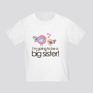 I'm Going to Be Big Sister Whimsy Bird Toddler T-S