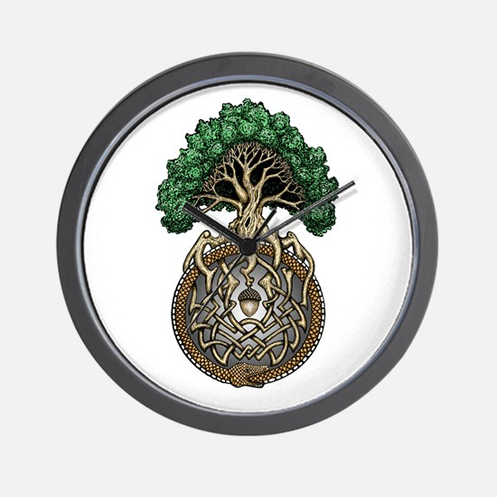 Ouroboros Tree Wall Clock