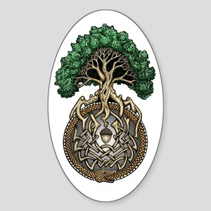 Ouroboros Tree Sticker (Oval)