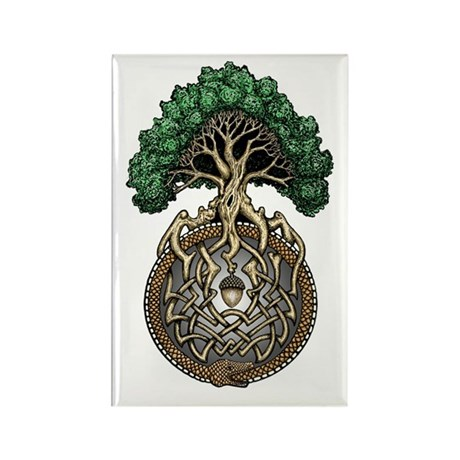 Ouroboros Tree Rectangle Magnet (100 pack)