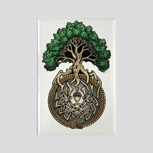 Ouroboros Tree Rectangle Magnet