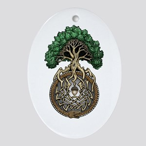 Ouroboros Tree Ornament (Oval)