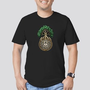 Ouroboros Tree Men's Fitted T-Shirt (dark)