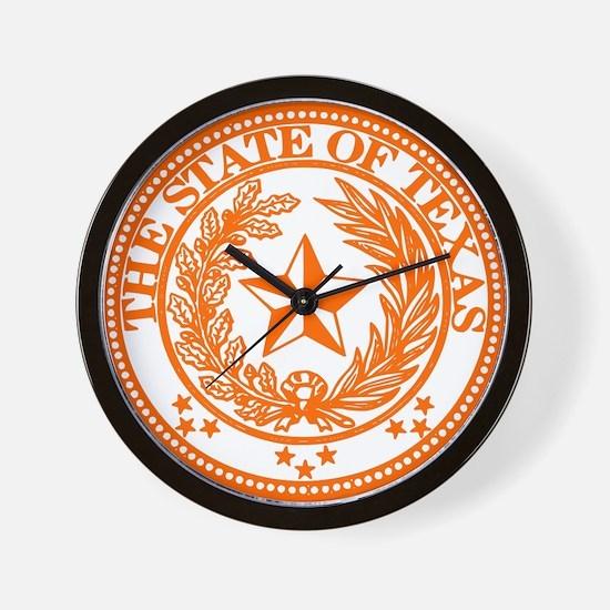 Cool Texas seal Wall Clock