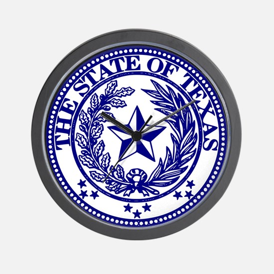 Unique Texas seal Wall Clock