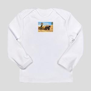 Big Black Dog Long Sleeve Infant T-Shirt
