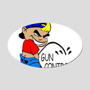 P On Gun Control 22x14 Oval Wall Peel