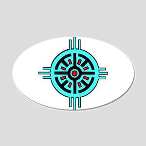 Medicine Wheel 22x14 Oval Wall Peel