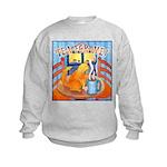 Tea for Me (Cat) Watercolor Kids Sweatshirt