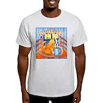 Tea for Me (Cat) Watercolor Ash Grey T-Shirt