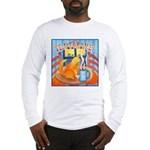 Tea for Me (Cat) Watercolor Long Sleeve T-Shirt