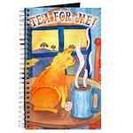 Tea for Me (Cat) Watercolor Journal