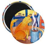 Tea for Me (Cat) Watercolor Magnet