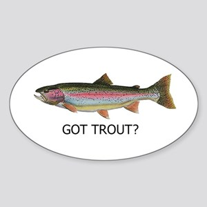 got trout? Sticker (Oval)