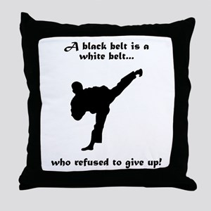 Black Belt Refusal Throw Pillow
