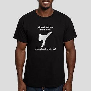 Black Belt Refusal Men's Fitted T-Shirt (dark)
