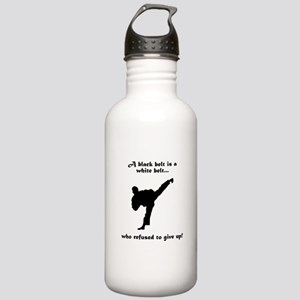 Black Belt Refusal Stainless Water Bottle 1.0L