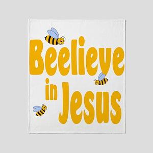 Beelieve in Jesus Throw Blanket