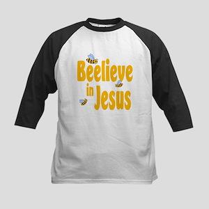 Beelieve in Jesus Kids Baseball Jersey