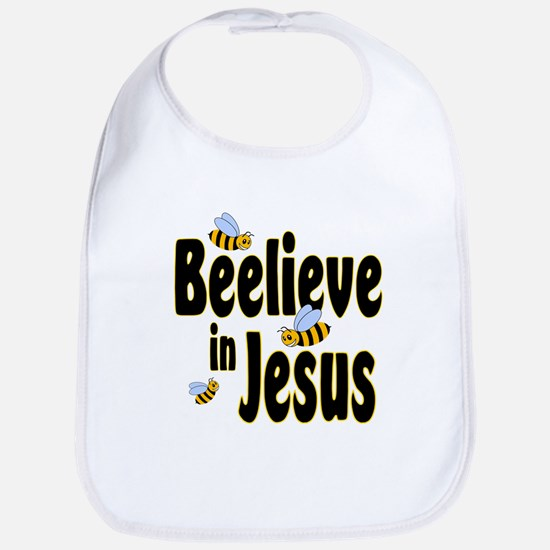 Beelieve in Jesus - Black Let Bib