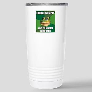 Check Fridge Stainless Steel Travel Mug