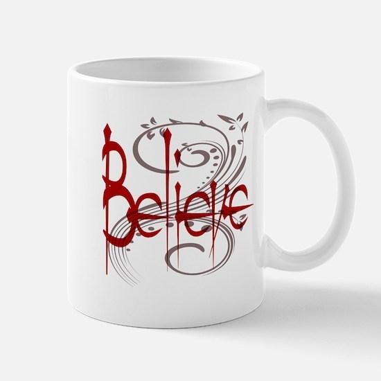 Maroon Believe with Gray Flou Mug