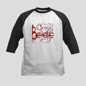 Maroon Believe with Gray Flou Kids Baseball Jersey