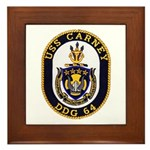 USS CARNEY Framed Tile