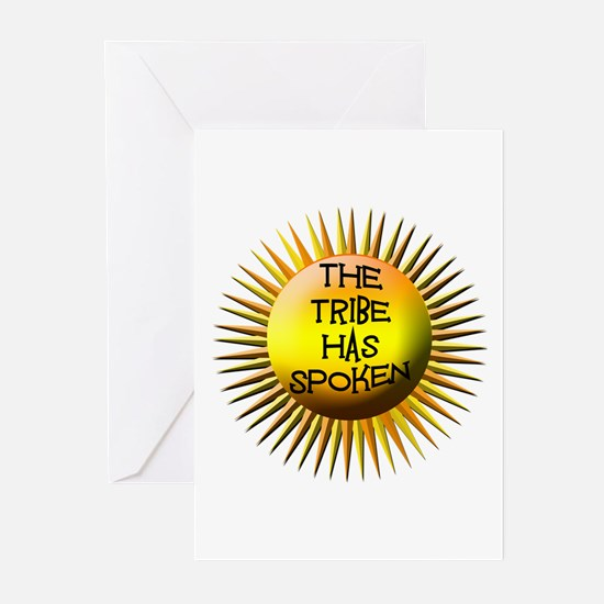 The Tribe Has Spoken! Greeting Cards (Pk of 10)