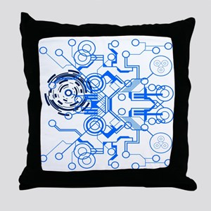 Circuitboard Throw Pillow