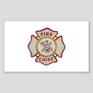 Fire Chief Maltese Sticker (Rectangle)