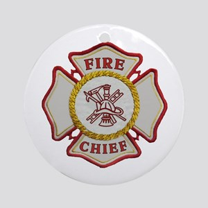 Fire Chief Maltese Ornament (Round)