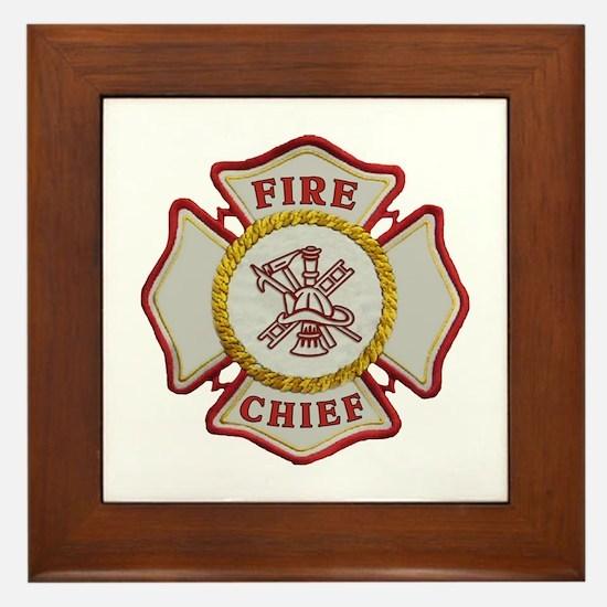 Fire Chief Maltese Framed Tile