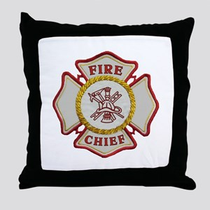 Fire Chief Maltese Throw Pillow