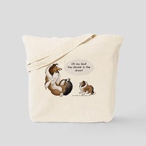 Sheltie Prank Tote Bag
